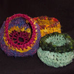 Crocheted Fabric Pots